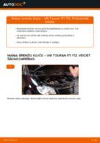 Mainīties VW TOURAN (1T1, 1T2) Bremžu uzlikas - soli-pa-solim pamācības PDF