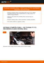 Kaip pakeisti VW Touran 1T1 1T2 stabdžių diskų: priekis - keitimo instrukcija