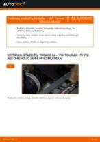 Kaip pakeisti VW Touran 1T1 1T2 stabdžių trinkeliu: galas - keitimo instrukcija