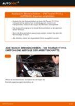 Schritt-für-Schritt-Anleitung im PDF-Format zum Bremsscheiben-Wechsel am VW TOURAN (1T1, 1T2)