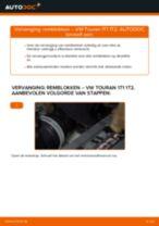 VW Touran 5t reparatie en onderhoud gedetailleerde instructies