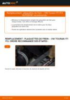Comment changer : plaquettes de frein arrière sur VW Touran 1T1 1T2 - Guide de remplacement