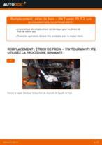 Comment changer : étrier de frein arrière sur VW Touran 1T1 1T2 - Guide de remplacement