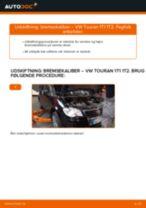 VW TOURAN reparations- og vedligeholdelsesvejledning