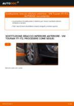 Come cambiare braccio inferiore anteriore su VW Touran 1T1 1T2 - Guida alla sostituzione
