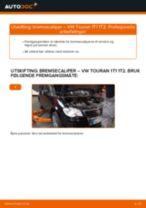 VW TOURAN reparasjon og vedlikehold håndbøker