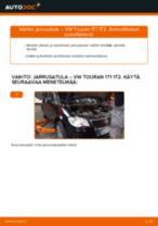 Kuinka vaihtaa jarrusatula taakse VW Touran 1T1 1T2-autoon – vaihto-ohje
