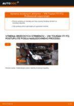 Ako vymeniť zadné brzdový strmeň na VW Touran 1T1 1T2 – návod na výmenu