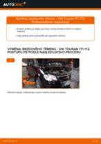 Jak vyměnit zadní brzdový třmen na VW Touran 1T1 1T2 – návod k výměně