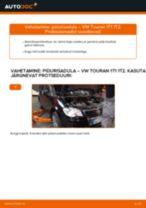 Kuidas vahetada VW Touran 1T1 1T2 taga-pidurisadula – õpetus