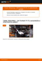 Hátsó féknyereg-csere VW Touran 1T1 1T2 gépkocsin – Útmutató