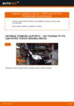 Kaip pakeisti VW Touran 1T1 1T2 stabdžių suporto: galas - keitimo instrukcija