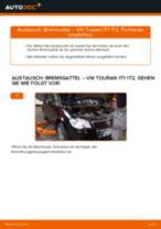 Wie VW Touran 1T1 1T2 Bremssattel hinten wechseln - Schritt für Schritt Anleitung