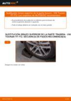 Cómo cambiar: brazo superior de la parte trasera - VW Touran 1T1 1T2 | Guía de sustitución