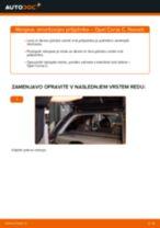 Kako zamenjati avtodel amortizer prtljažnih vrat na avtu Opel Corsa C – vodnik menjave