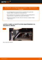 PDF manual de reemplazo: Amortiguadores puerta trasera OPEL Corsa C Hatchback (X01)