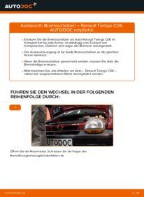 Wie der Wechsel durchführt wird: Bremsscheiben Twingo c06 1.2 1.2 16V 1.0 tauschen