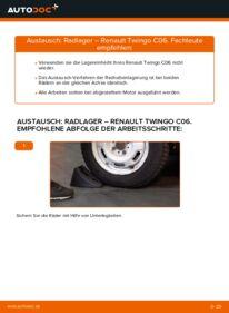 Wie der Wechsel durchführt wird: Radlager 1.2 Twingo c06 tauschen