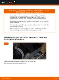 Wie der Wechsel ausgeführt wird: Bremsscheiben beim VW TOURAN