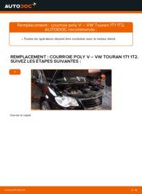 Comment effectuer un remplacement de Courroie Trapézoïdale à Nervures sur 1.9 TDI VW Touran 1