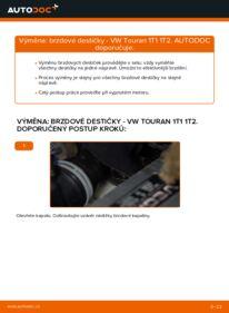 Jak provést výměnu: Brzdové Destičky na 1.9 TDI Touran 1t1 1t2