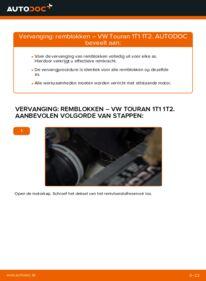 Vervangen: Remblokken VW TOURAN