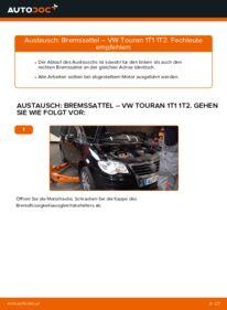 Wie der Austausch bewerkstelligt wird: Bremssattel beim VW TOURAN