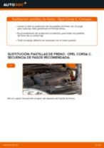 Reemplazar Juego de pastillas de freno OPEL CORSA: pdf gratis