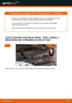 Come cambiare pastiglie freno della parte anteriore su Opel Corsa C - Guida alla sostituzione