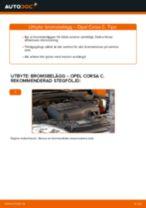 Byta bromsbelägg fram på Opel Corsa C – utbytesguide