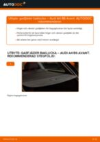 Steg-för-steg-guide i PDF om att byta Spindelled i Audi A4 B8