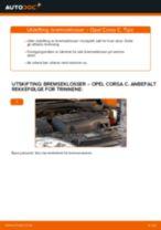 Slik bytter du bremseklosser fremme på en Opel Corsa C – veiledning