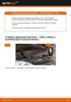 Jak vyměnit přední brzdové destičky na Opel Corsa C – návod k výměně