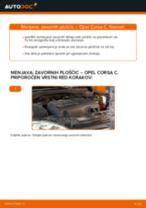 Avtomehanična priporočil za zamenjavo OPEL Opel Corsa C 1.0 (F08, F68) Filter notranjega prostora