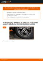 Como mudar terminal de direção em Audi A4 B6 Avant - guia de substituição