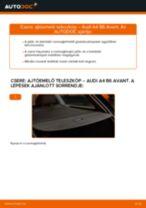 Ajtóemelő teleszkóp-csere Audi A4 B6 Avant gépkocsin – Útmutató