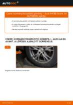 Kormányösszekötő gömbfej-csere Audi A4 B6 Avant gépkocsin – Útmutató