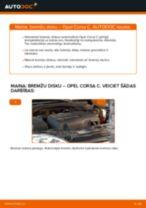 Kā nomainīt: priekšas bremžu diskus Opel Corsa C - nomaiņas ceļvedis
