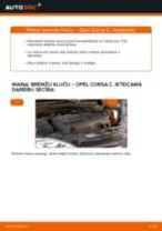 Kā nomainīt: priekšas bremžu klučus Opel Corsa C - nomaiņas ceļvedis