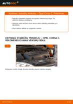 Kaip pakeisti Opel Corsa C stabdžių trinkeliu: priekis - keitimo instrukcija