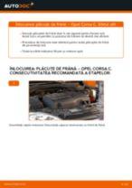 Schimbare Placute Frana OPEL CORSA: manual de intretinere si reparatii