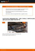 Wie Opel Corsa C Bremsbeläge vorne wechseln - Schritt für Schritt Anleitung