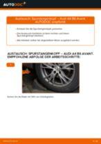Hilfreiche Fahrzeug-Reparaturanweisung für Servolenkungsflüssigkeit AUDI