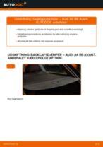 Online gratis instruktioner hvordan skifter man Gasfjeder bagklap AUDI A4 Avant (8E5, B6)