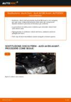 Come cambiare dischi freno della parte posteriore su Audi A4 B6 Avant - Guida alla sostituzione