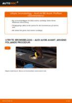 Byta bromsbelägg fram på Audi A4 B6 Avant – utbytesguide