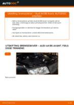 Slik bytter du bremseskiver bak på en Audi A4 B6 Avant – veiledning