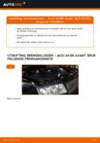 Slik bytter du bremseklosser bak på en Audi A4 B6 Avant – veiledning