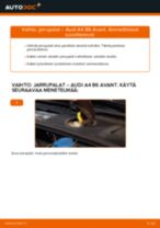 Kuinka vaihtaa jarrupalat eteen Audi A4 B6 Avant-autoon – vaihto-ohje