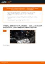 Ako vymeniť a regulovať Brzdové doštičky AUDI A4: sprievodca pdf